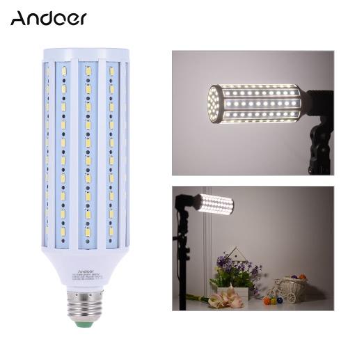 Andoerフォトスタジオ写真5500K 60W 120ビーズLEDトウモロコシランプの電球昼光色E27ソケット