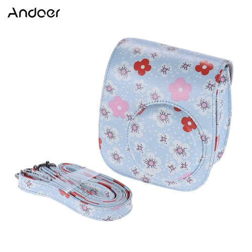 Andoer PU Protective Camera Case Bag Pouch Protector for Fujifilm Instax Mini 8+/8s/8