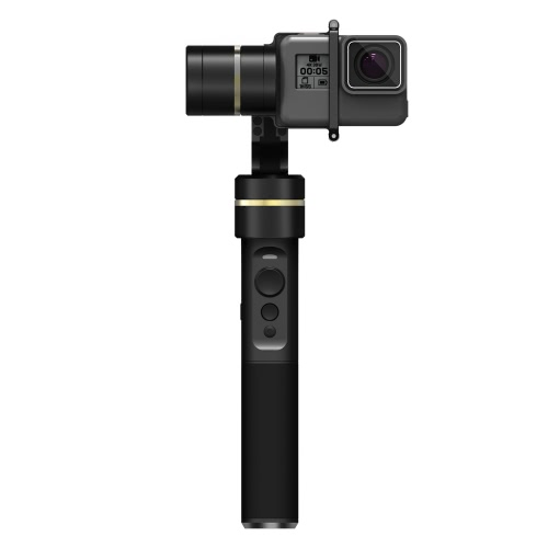 Feiyu G5 3-Achsen-Hand Gimbal-Action-Kamera Stabilizer spritzwassergeschütztes Design für GoPro HERO5 HERO4 Hero3 für Yi Cam 4K für AEE und Actionkameras von ähnlicher Größe
