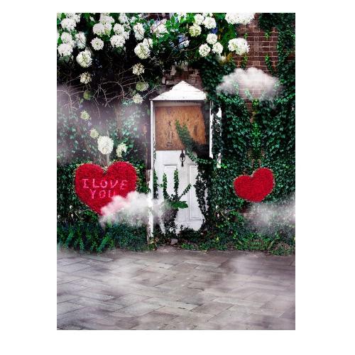 1,5 * 2m / 4,9 * Tło 6.5ft Fotografia tle Computer Printed Miłość Wzorzec dla dzieci Kid Dziecko Noworodek Pet zdjęcie portret studio fotografowania
