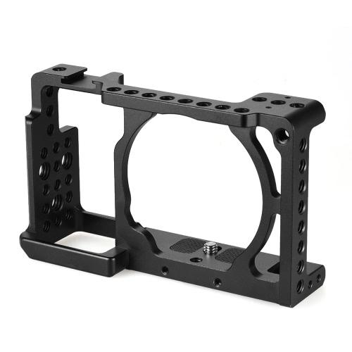 Andoer protection caméra vidéo Cage Stabilisateur Protecteur pour Sony A6000 A6300 NEX7 ILDC au mont Microphone Moniteur trépied Accessoires d'éclairage