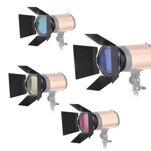 4pcs Color Gel Filters