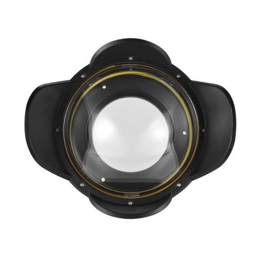 カメラのダイビング住宅用MEIKON水中カメラ200ミリメートルフィッシュアイ広角レンズドームポートケースシェードカバー60メートル/ 197フィート防水67ミリメートルラウンドアダプタ