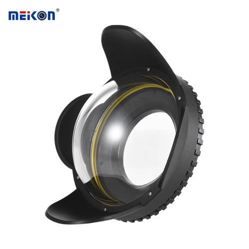 MEIKON Underwater Camera 200mm Fisheye Wide Angle Lens Dome Port Case Shade Cover 60m/ 197ft Waterproof 67mm Round Adapter for Camera Diving Housing