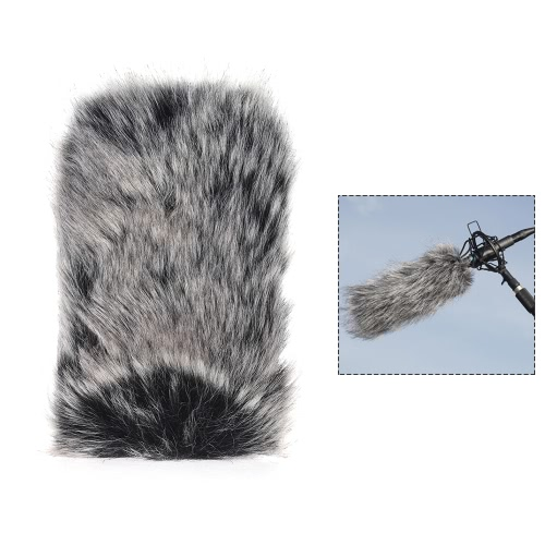 Small Size Outdoor Microphone Mic Furry Windscreen Windshield Cover Muff for SHENGGU SG-107/ SG109 or other 6 * 5cm / 2.4 * 2in (L * D) Compact Microphones D4686-3
