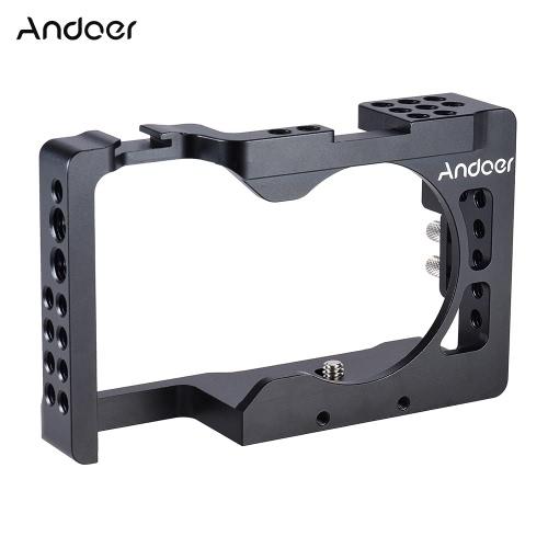 Andoer Aluminiowa klatka Aparatu do Kamery Sony A6500 ILDC