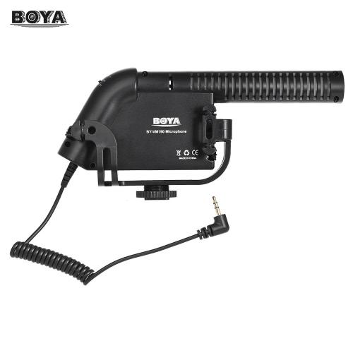 """BOYA BY-VM190 Professionelle Super-Nierencharakteristik Kondensator Mikrofon 1/4 """"Schraubmontage Integrierte Schockhalterung für DSLR Kamera Camcorder DV Personal Audio Recorder"""
