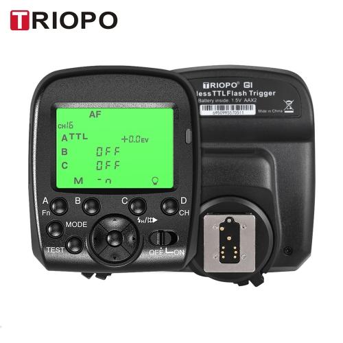 TRIOPO G1 Podwójny TTL Wyzwalanie bezprzewodowe z ekranem panoramicznym LCD 1 / 8000s Bezprzewodowa transmisja bezprzewodowa HSS 2.4G 16 kanałów dla kamer Canon z serii Nikon