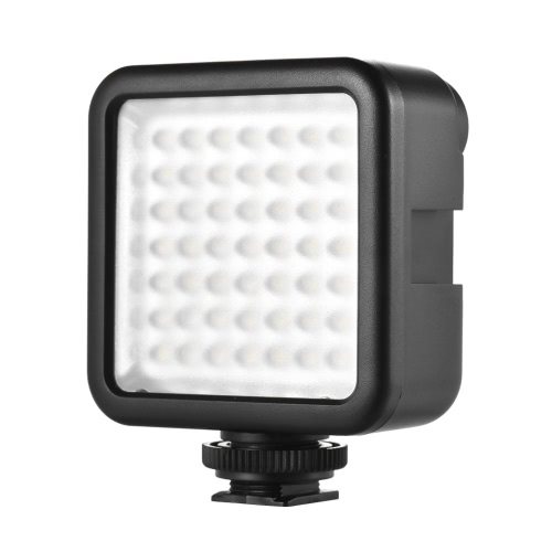 Andoer W49 Mini Interlock Camera LED Panel Light Dimmable Camcorder Video Lighting