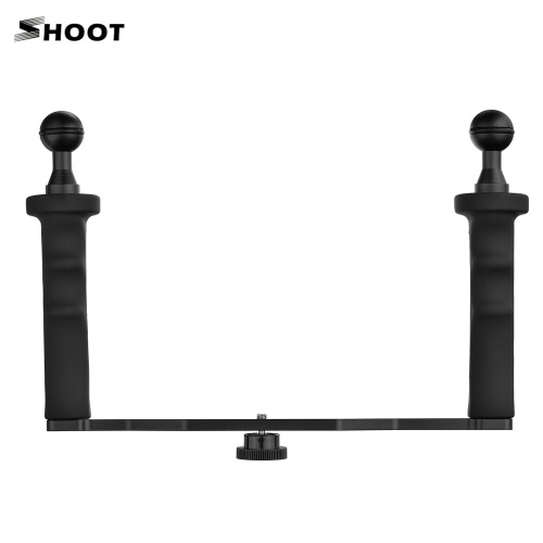 SHOOT XTGP324A Aluminum Alloy 18cm * 26cm Handheld Stabilizer Grip for GoPro 5/4/3+/3 and Other Similar Action Camera for 4 inch 6 inch Dome Port and Video Light LED Light with 1/4