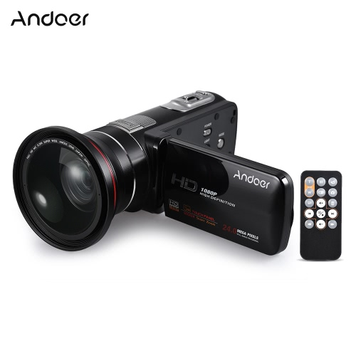 Cámara de vídeo digital Andoer HDV-Z80 1080P Full HD 24MP