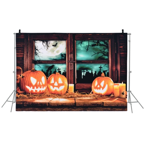 6.9 * 5ft / 2.1 * 1.5m Halloween Backdrop Fotografia Kontekst Dekoracje Dynia Wzór dla DSLR Camera Photo Studio