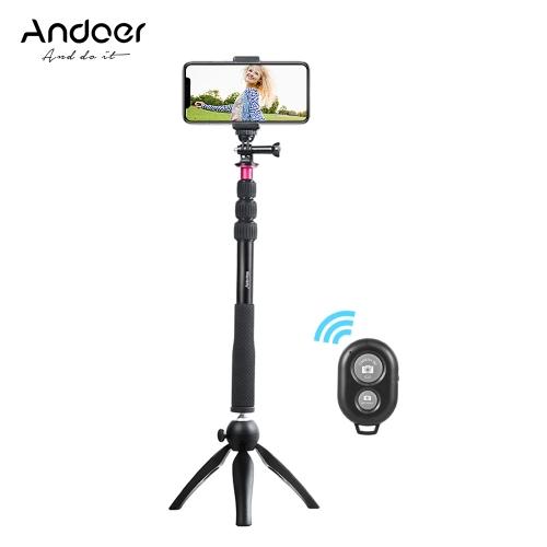 Andoer Selfie Stick + mini statyw + telefon do statywu + bezprzewodowy pilot zdalnego sterowania