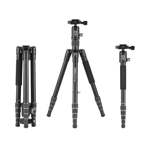 Kingjoy G22 + G00 Tragbare Reise Aluminiumlegierung Kamera Stativ