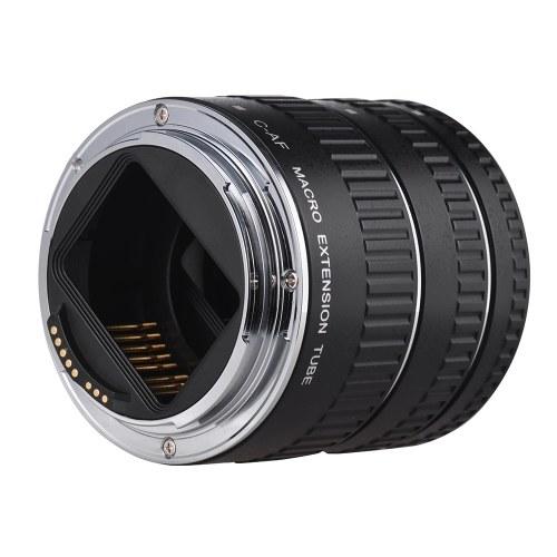 Удлинительная трубка для макросъемки Медная автофокусировка AF Макрообъективное удлинительное кольцо с обложками для Canon 60D 70D 80D 5DII 5DIII 5DIV 5DS 5DSR 700D 800D 750D 550D 7DII 6D 6DII EF EF-S Объектив DSLR-камера