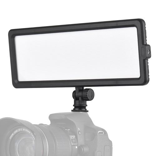 Andoer CM-280D CRI93 Супер тонкая светодиодная панель для видеосъемки 3200K-5600K Двухцветная яркость с возможностью затемнения с холодным креплением для камеры Canon Nikon Sony DSLR фото