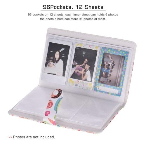 96 Pockets Mini Photo Album Photo Book Album for Fujifilm Instax Mini 9 8 7s 70 25 50s 90 Color Films Photo Camera Paper for Name Card Credit Card