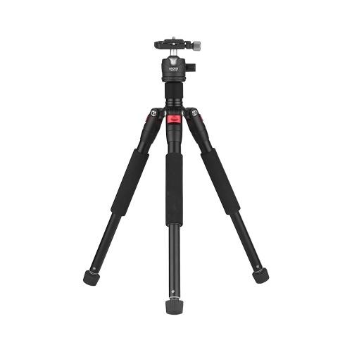 Andoer K521S Portable 5-teilige ausziehbare Aluminiumlegierung Stativ mit Mini-Kugelkopf Low-Schwerpunkt 1/4
