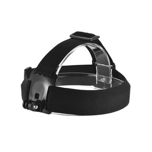 GoProヒーロー7/6/5/4 SJCAM / YI用調整可能なアンチスリップアクションカメラヘッドストラップヘッドバンドマウント