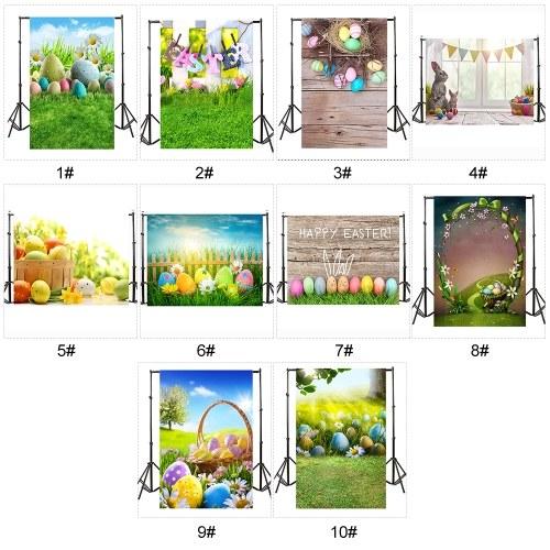 Пасхальная тема фотография фон яйца кролика цветы луга ребенок ребенок фото фоны для фотостудии фото