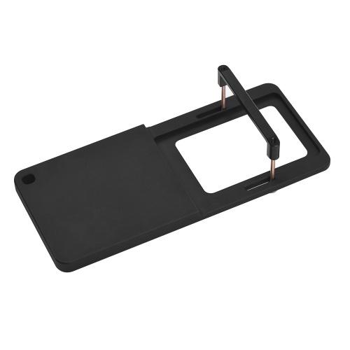 Cámara de acción Interruptor de montaje en placa Adaptador de aleación de aluminio para GoPro Hero 6/5/4/3 + para YI 4K para SJCAM y cámaras deportivas del mismo tamaño para DJI OSMO Mobile para Zhiyun Smooth 4 Handheld Gimbal Stabilizer