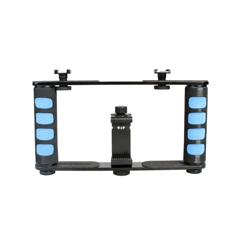 Portable Handheld Stabilizer Video Cage Dual Handle Grip