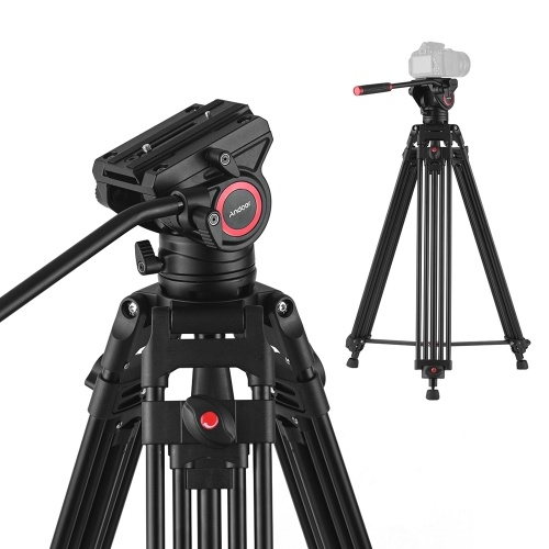 Andoer VT1818 Professional Aluminum Alloy Video Tripod with Fluid Hydraulic Head