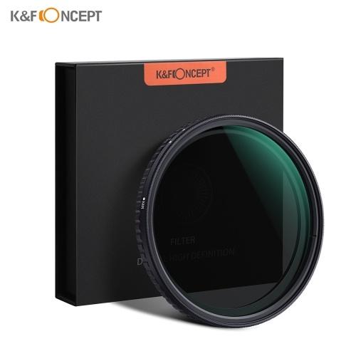 КОНЦЕПЦИЯ K & F 72 мм Ультратонкий Регулируемая переменная нейтральная плотность Фейдер ND-фильтра ND2-ND32 для объектива камеры для камер Canon Sony Nikon