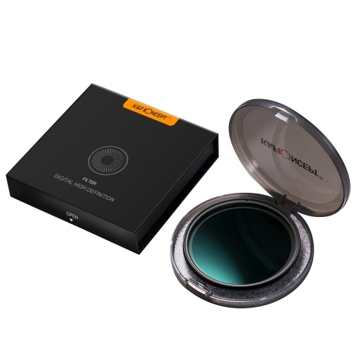 K&F CONCEPT 72mm Ultra-thin Adjustable Variable Neutral Density ND Filter Fader ND8-ND128 for Camera Lens