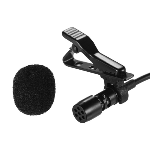 Andoer Mini Lapel Lavalier Clip-on Condenser Microphone Mic with USB Plug for Computer PC Laptop