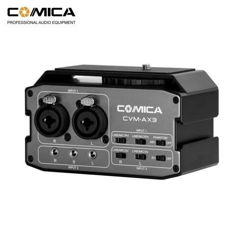 CoMica CVM-AX3 XLR Audio Mixer Adapter Preamplifier Dual