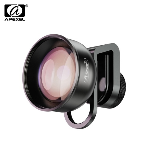 APEXEL APL-HD5T Multi-layer Phone Telephoto Lens 2X Zoom for Dual Lens / Single Lens Smartphone for iPhone X/Xs/8P Samsung Galaxy Huawei Xiaomi Cellphones