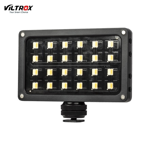 Viltrox RB08 portátil LED luz de preenchimento de vídeo lâmpada 24pcs grânulos brilho ajustável 2500K-8500K CRI 95+ com difusor de tela de exibição USB cabo de carregamento adaptador de sapata quente para retrato de estúdio Stii vida fotografia gravação de vídeo