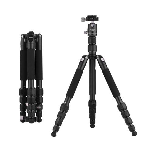 Andoer Tripé de câmera de viagem portátil de 58 polegadas