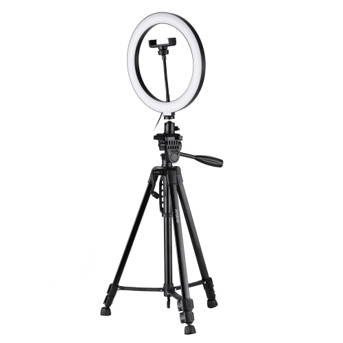 Andoer 10inch LED Ring Light with Tripod Stand Phone Holder Remote Shutter