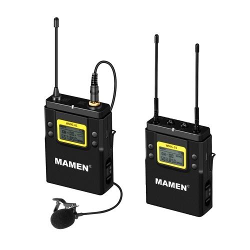 MAMEN WMIC-01 Профессиональная двухканальная цифровая беспроводная микрофонная система УВЧ