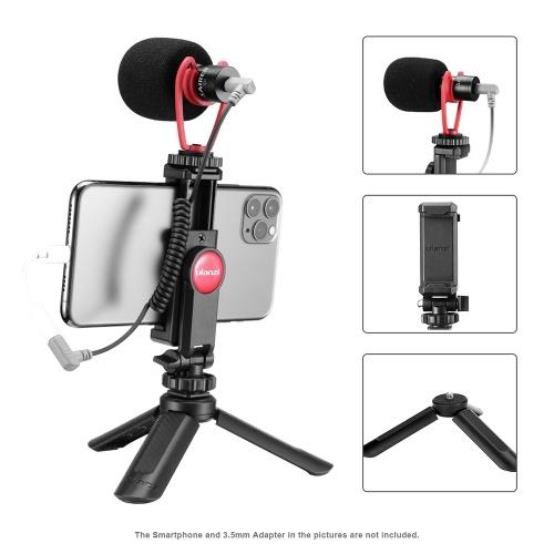 ulanzi Smartphone Video Kit 1 with Mini Desktop Tripod + Phone Holder + Video Microphone