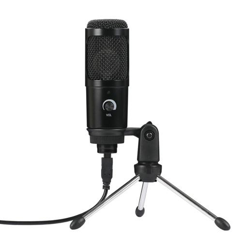 Microfono dinamico a condensatore plug-and-play USB con mini treppiede
