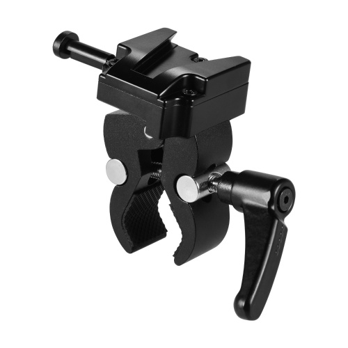 V-Mount Battery Adapter with Clamp for Mounting to Light Stand Tripod 1.2Kg Load Capacity