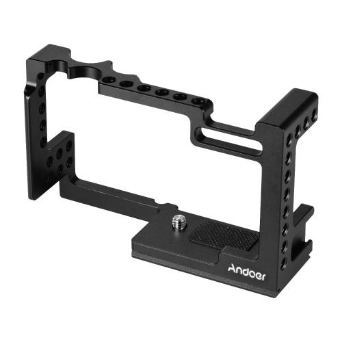 Andoer em liga de alumínio para câmera com design integrado de gaiola protetora de vlog