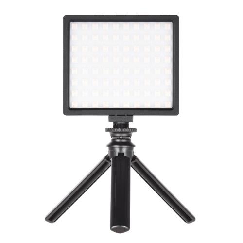 LIYADI RGB Farbkamera-Lampenset mit 80-teiligen LED-Perlen Mini-LED-Videolicht für wiederaufladbare Fotografie