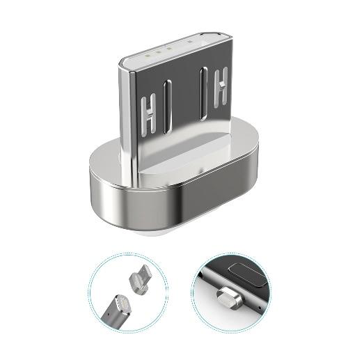 dodocool 3,3 / 1,2 m Cabo de carga e sincronização Magnetic micro USB destacável com indicador LED Prata