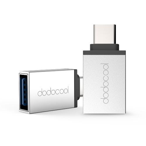 dodocool Adattatore USB da Tipo C a USB 3.0 Converti Connettore USB da Tipo C a USB 3.0 per MacBook / ChromeBook Pixel / Nexus 5X / Nexus 6P / OnePlus Due / Nokia N1 / Tipo C Dispositivo supportato Argento