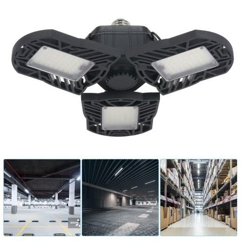 AC85-265V E27 / E26 6000lm Lámpara deformable LED Luz de estacionamiento Interfaz de bombilla plegable para iluminación interior