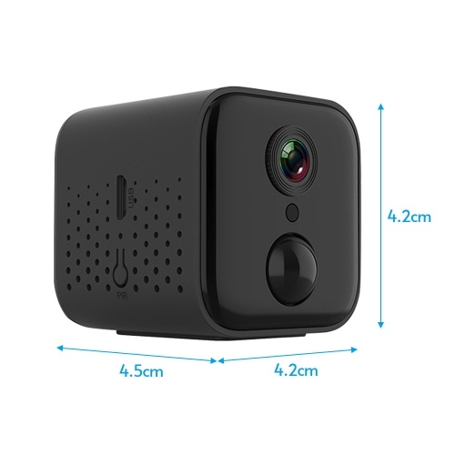 1080P High-Definition Mini Portable Camera Smart WiFi Wireless Security Camera Night Vision PIR Motion Detection with Magnetic Design Base Bracket Wristband for Home Security Outdoor Exercising Kids Monitoring Pets Monitoring
