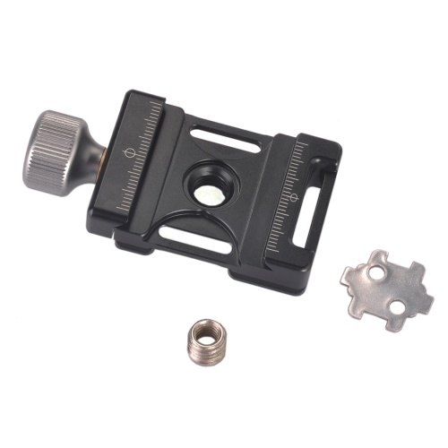Andoer 38mm QR Plate Aluminum Screw Knob Mini Quick Release Clamp Arca Swiss