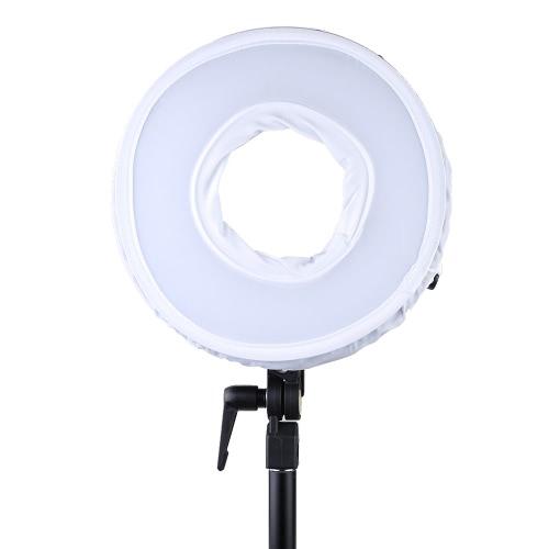300pcs リングLEDパネル ライト ランプ CRI95+ デュアル色温度 3000K-7000K 調整可能 スタジオ  屋外ビデオカメラ撮影照明キット