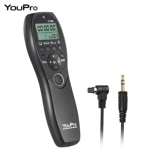 YouPro YP-880 N3 Kamera przewodowa migawki Czasomierz Release zdalnego sterowania Wyświetlacz LCD do Canon 7D 5D 5D2 5D3 5DS 5DSR 1D Mark I / II / III / IV 1Ds Mark I / II / III 1DX 6D 50D 40D DSLR