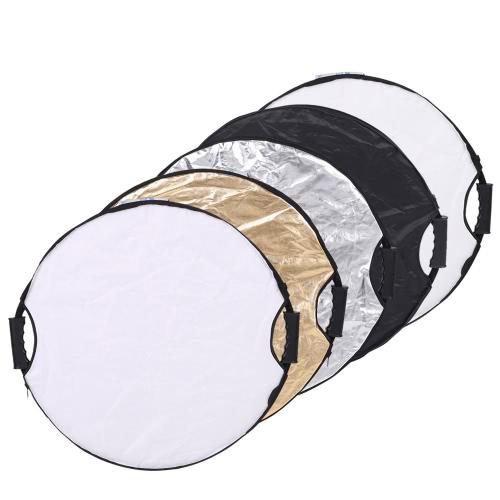 Andoer 110 cm 5 の Collapsible マルチ ディスク ポータブル円形ラウンド 1 写真写真スタジオ ビデオ反射板