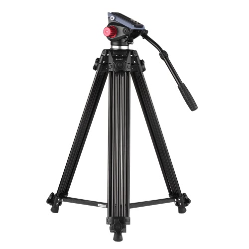Andoer Camera Tripod, 67 Inches Professional Aluminum Alloy Tripod with Fluid Head and a Carry Bag for DSLR Canon Nikon Sony Camera